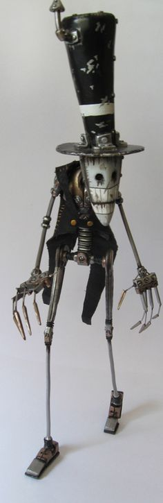 """The Clerk"" sculpture by Alexander Johnson aka Morffin. #Steampunk #Xerposa."
