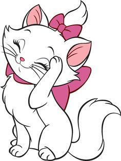 Marie by The Aristocats iMessages Sticker Disney Drawings, Cartoon Drawings, Cute Drawings, Drawing Sketches, Disney Cats, Disney Cartoons, Marie Cat, Cute Disney, Disney Wallpaper