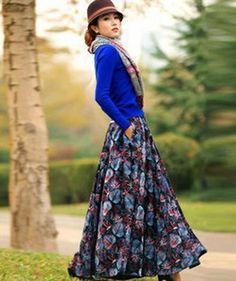 Модные юбки на осень 2016 года: на фото длинные модели в пол и макси для полных…