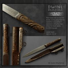 Handmade Swords - Dwine Broadseax      Swordsmith: Jake Powning