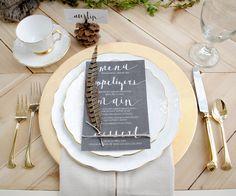 Thanksgiving Tablescape Design • griffanie.com • Gold and White