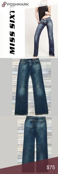 a95f605ceaa78a Miss Sixty Sz 27 Jeans Distressed Low Waist Brand: Miss Sixty Size: 27  Material