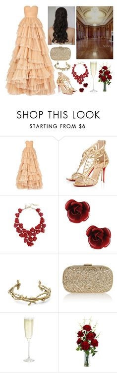 """Roses are Red..."" by lilacmayn ❤ liked on Polyvore featuring Burberry, Christian Louboutin, Oscar de la Renta, Forever 21, Monserat De Lucca, Anya Hindmarch, Crate and Barrel and Nearly Natural"