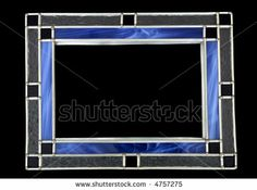 Blue stained glass picture frame, isolated on black by Michael Coddington, via Shutterstock