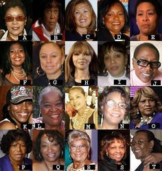 A. Kelis' mother B. Lil'Kim's mother C. Kimora Lee's mother D. Tyra Banks' mother E. Eve's mother F. Usher's mother G. Chris Brown's mother H. Naomi Campbell's mother I. Angela and Vanessa Simmons' biological mother J. Tupac's mother K. Teyana Taylor's mother L. Kid Cudi's mother M. Chanel Iman's mother N. Kelly Rowland's mother O. Toni Braxton's mother P. All the Jacksons mother  Q. Raven Symmone's mother R. Wendy Williams' mother S. Whitney Houston's mother T. Jay Z's mother