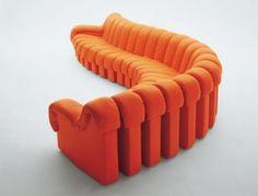 yaratici koltuk tasarimlari modern klasik dizaynlar ilginc fikirler turuncu bloklar – Dekorasyon Cini
