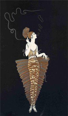 contessa ert, costume design, ert 1985, artist, ert art, artdeco, art deco, art nouveau, erté