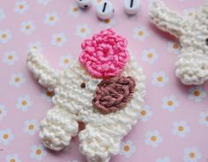 Mini Crochet Elephants free crochet pattern