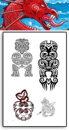 969be154d 109 Best Taniwha images in 2019 | Maori, New Zealand, Maori Art