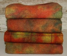FALL APPLES_CrayolaBoxSpotDyes2 hand-dyed by Wool-N-Wares @ http://stores.shop.ebay.com/wool-n-wares