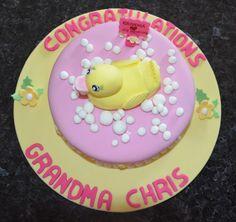 Grandma's Baby Duckling Shower cake #duck #grandma