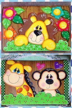 Diseños lindos Kids Crafts, Foam Crafts, Diy And Crafts, Arts And Crafts, Paper Crafts, Cricut Cards, Decorate Notebook, Ideas Para Fiestas, Punch Art