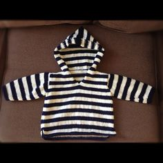 Hoodie knitted for my nephew - pattern from Debbie Bliss, Eco Baby.