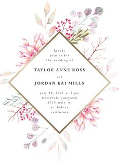 """Ascent"" foil-pressed wedding invitation design by Minted artist Poi Velasco. Part of the new 2018 wedding invitation collection from Minted."