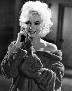 "1962: Marilyn on the set of ""Something's Got To Give""."