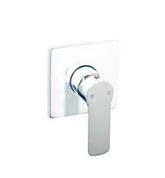Gloss white and Chrome Wall Mixer