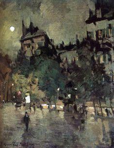 """Paris after Rain"" by Konstantin Korovin, 1900, Oil on canvas"