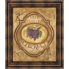 "Vintage Wine Art ""Villa Toscana Cabernet"" by Gregory Gorham Vintage Wine, Vintage Labels, Vintage Posters, Vintage Cars, Printable Vintage, Vintage Shoes, Vintage Trends, Vintage Images, Vintage Ideas"