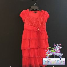 """Beautiful Red """"My Michelle"""" Dress, size 10, just $19.99!"""