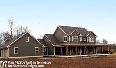 Country Home Plan With Marvelous Porches - 4122DB | Country, Farmhouse, Traditional, Photo Gallery, 1st Floor Master Suite, Bonus Room, CAD Available, Den-Office-Library-Study, Media-Game-Home Theater, PDF, Wrap Around Porch, Corner Lot | Architectural Designs