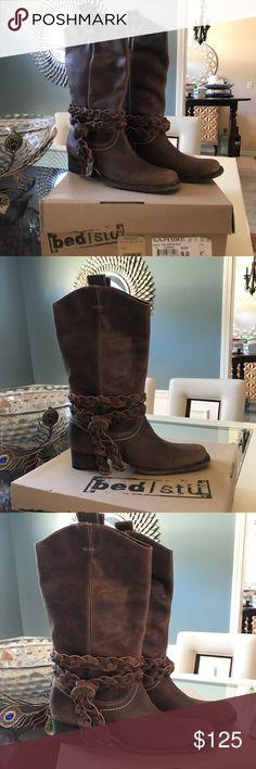 Bed Stu Boots Bed Stu Women's Saphire Boots I'm Tan Bed Stu Shoes Combat & Moto Boots