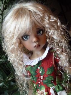 """Beautiful Kaye Wiggs doll """"dressed in holiday style!"""""""