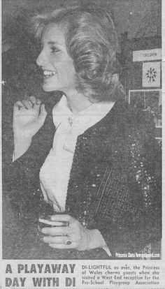November 29, 1984:Princess Diana attends a Pre-School Playgroups Association Reception, London.