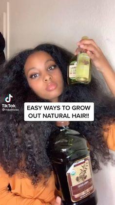 Cabello Afro Natural, Pelo Natural, Long Natural Hair, Black Hair Growth, Black Hair Care, Curly Hair Tips, Curly Hair Care, 4c Hair, Hair Growing Tips