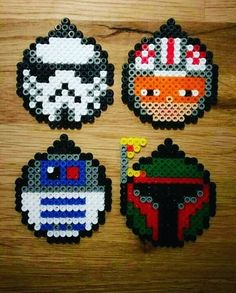 Star Wars Christmas tree ornaments perler beads by munki_chops