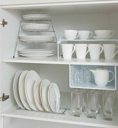 kitchen storage ideas, tableware storage ideas, storage solution for kitchen - The Effective Pictures We Offer You About bedroom closet A quality picture can tell you many thing - Kitchen Cupboard Organization, Tidy Kitchen, Diy Kitchen Storage, Kitchen Cupboards, New Kitchen, Home Organization, Kitchen Decor, Kitchen Ideas, Kitchen Small