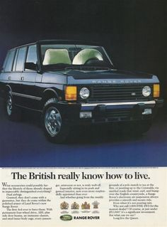 Oh Santa dear, don't you know that this is the year you need to put a vintage Range Rover in my driveway?