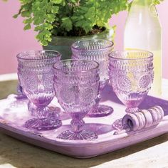 Lucious lavender glasses