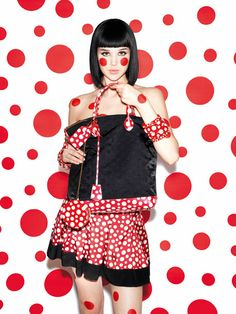The Full Yayoi Kusama for Louis Vuitton Lookbook via NYmag.com