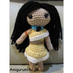 Pocahontas Disney Princess Handmade Amigurumi Crochet Doll by Amigurumi4u, via Flickr