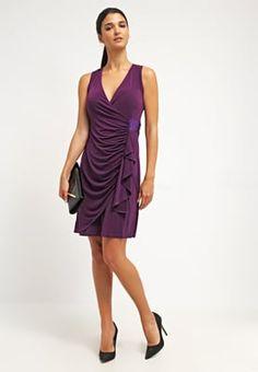 Anna Field Jerseykjole - dark purple - Zalando.no