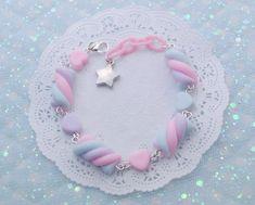 Candy Jewelry, Kids Jewelry, Cute Jewelry, Jewelry Ideas, Jewlery, Kawaii Jewelry, Kawaii Accessories, Kawaii Wigs, Pink Plastic