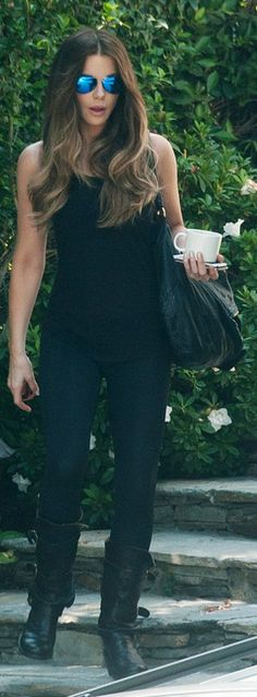 Kate Beckinsale: Sunglasses – Victoria Beckham Collection Purse – Givenchy Shoes – Fiorentini & Baker