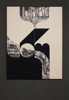 Collage and acrylic on old paper.  375 x 495 mm    Louis Reith