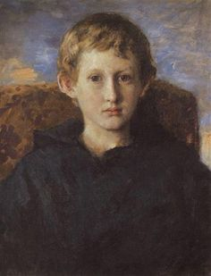 Viktor Vasnetsov (Russian, 1848-1926) : Portrait of Boris Vasnetsov, son of the artist, 1889. Tretyakov Gallery, Moscow, Russia.