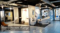 I posted the construction phase a few weeks ago and here's how the Laufen Showroom Displays at Dexterton Corporation turned out! Showroom Design, Interior Design, Blog, Furniture, Home Decor, Keep Running, Nest Design, Decoration Home, Home Interior Design
