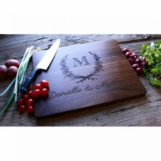 A personalized cutting board. An awesome housewarming gift!