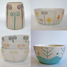 ceramic by Studio Magenta, Veronica Fransson Ceramic Studio, Ceramic Design, Ceramic Artists, Magenta, Stoneware, Print Patterns, Pattern Design, Stationery, Veronica