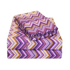 Superior Wrinkle Resistant Zig-Zag Deep Pocket Sheet Set