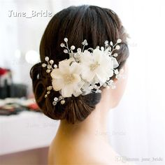 New White Red Bridal Hair Flowers Hot Sell High Quality Wedding Crystal Flexible Hair Accessory Floral Sydney Bridal Headdress Headpieces Vintage Wedding Jewellery Wedding Fascinators Uk From June_bride, $17.49| Dhgate.Com