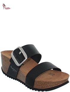 7daacac1c75a sandales - nu pieds pepe jeans tyron plain noir 40  Amazon.fr  Chaussures et  Sacs