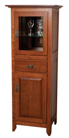 Wine Cabinet, mission style | Woodworking ideas | Pinterest | Wine ...