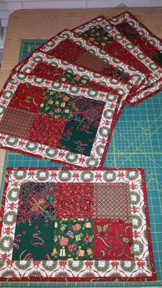 Scrappy Christmas Quilted Placemats Quilts Pinterest