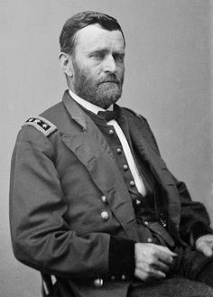 Ulysses S. Grant (born Hiram Ulysses Grant; 04-27-1822 – 07-23-1885) was the 18th President of the United States (1869–1877). As commanding general, Grant led the Union Armies to victory over the Confederacy in the American Civil War, which ended shortly after Robert E. Lee surrendered to him at Appomattox in 1865. After the war, Grant served as peacetime general, implementing Congressional Reconstruction, often at odds with President Andrew Johnson.
