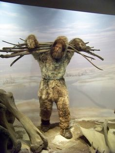 Diorama in some unmentioned museum or other...Cro Magnon Man: 35,000 BC