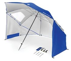 The Sport-Brella XL sun & weather shelter measures in diameter, giving you extra-large protection from the sun, wind, and rain. This portable shelter is perfect for sporting events or the beach. The Sport-Brella sets up in seconds and folds down int Fishing Umbrella, Beach Umbrella, Sun Umbrella, Sun Tent, Pokemon, Beach Tent, Patio Umbrellas, Enjoying The Sun, Beach Ready